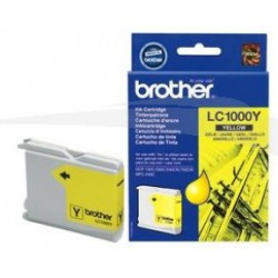 CARTOUCHE D'ENCRE JAUNE BROTHER LC1000Y